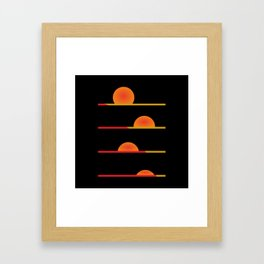 Sunrise #society6 #decor #buyart #artprint Framed Art Print