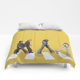 Yellow Abbey Road Comforters