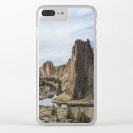 Between a Rock and a Hard Space Clear iPhone Case