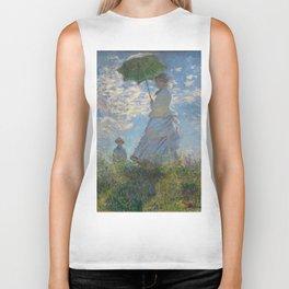Woman with a Parasol, Monet Biker Tank