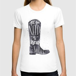 Boots watercolor T-shirt