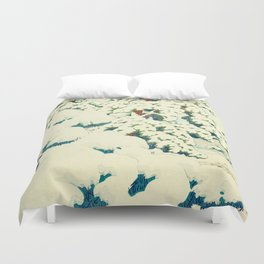 A Morning in the Snow Duvet Cover