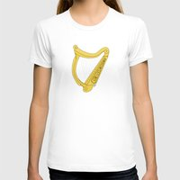 irish T-shirts featuring Irish Harp by Richard Fay