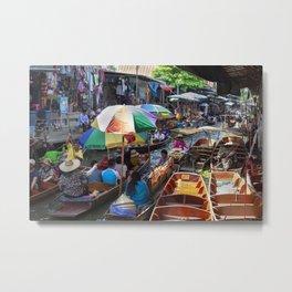 Bangkok floating market Metal Print