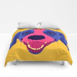 beagle - yellow Comforters