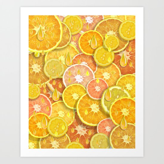 Juicy Fruits Art Print