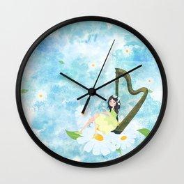Harp girl 3: Daisy Wall Clock