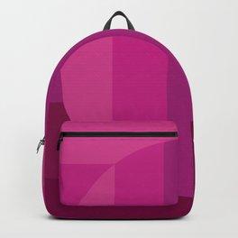 SHADES OF HOT PINK Horizontal stripes and circle - Mix & Match Backpack