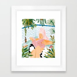 How To Have A Spa Day At Home #illustration Framed Art Print