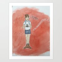 Aries Constellation Girl Art Print