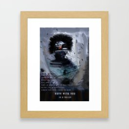 Navy with you Framed Art Print