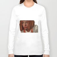 fifth element Long Sleeve T-shirts featuring leeloo - the fifth element by salem jones
