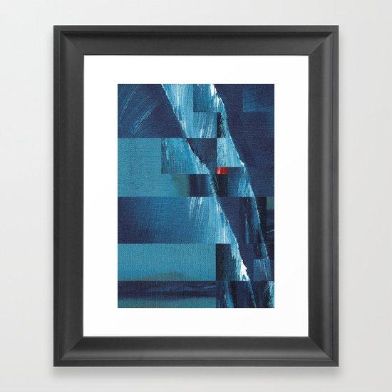 Cracking Waves (Distant Shore) Framed Art Print