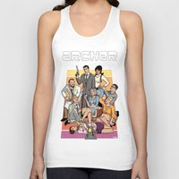 archer Tank Tops featuring Archer by Alex Sollazzo