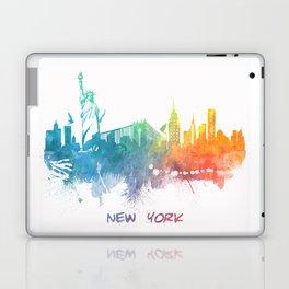 New York City Skyline colored Laptop & iPad Skin