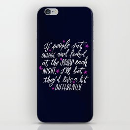 Look at the Stars - Deep Blue iPhone Skin