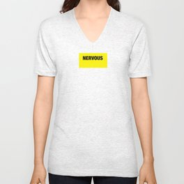 NERVOUS shirt for Doggo pals Unisex V-Neck