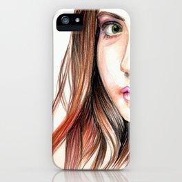 Karen Gillian Drawing iPhone Case