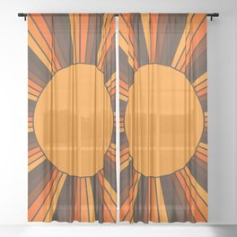 Golden Sunshine State Sheer Curtain
