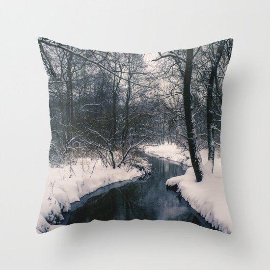 Almost frozen Throw Pillow