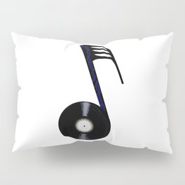Isolated Record Note Pillow Sham