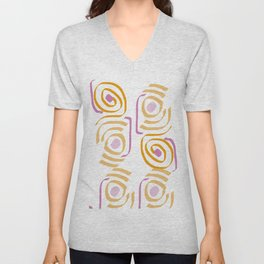Circles in water Unisex V-Neck