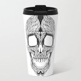 HUMAN SKULL. psychedelic / zentangle style Travel Mug