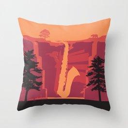 Music Mountains No. 2 Throw Pillow