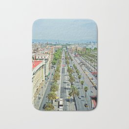 Barcelona from above Bath Mat