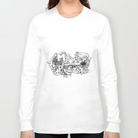 movies Long Sleeve T-shirts featuring Movies and Pizza by Sabrina B