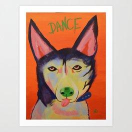 Dance Dog Art Print