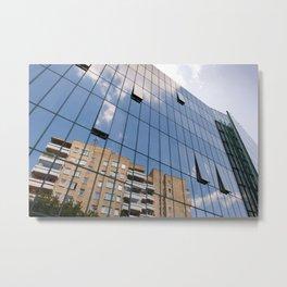 Modern skyscraper with glass wall of windows Metal Print