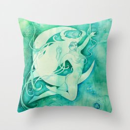 Goddess of Cancer - A Water Element Throw Pillow