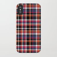 plaid iPhone & iPod Cases featuring Plaid by Xiao Twins