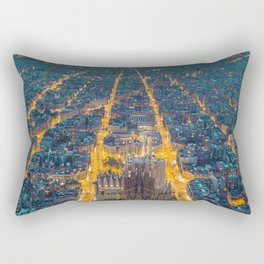 Sunset in Barcelona Rectangular Pillow