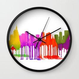 Orlando, Florida Skyline - Puddles Wall Clock