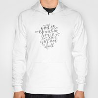 scripture Hoodies featuring SHE WILL NOT FALL by Pocket Fuel