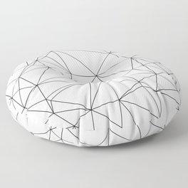 Black and White Geometric Minimalist Pattern Floor Pillow