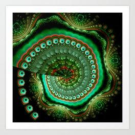 Pretty eyes, swirling pattern abstract Art Print