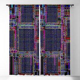 Technology Circuit Board Layout Pattern Blackout Curtain