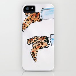 Leopard Boots iPhone Case