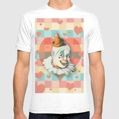 Clown Love Mens Fitted Tee MEDIUM White