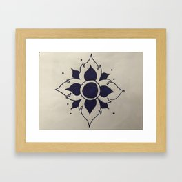 Lotusbloem Framed Art Print