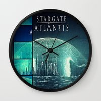 stargate Wall Clocks featuring Through the storm by Samy