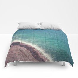 Beach Aerial II Comforters