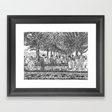 Book Fair Framed Art Print