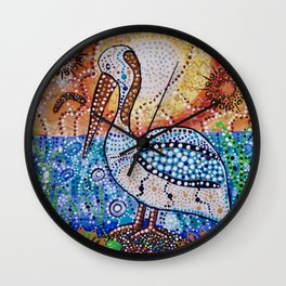 Boorun the Pelican Here Is My Country- Creation and Country Wall Clock