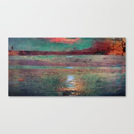 COLORED MORNING SUN Canvas Print