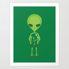 Green as a Little Green Does Art Print