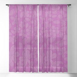 My Flower Design 3 Sheer Curtain